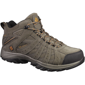 Columbia Canyon Point Mid Leather Omni-Tech Shoes Men Mud/Bright Copper